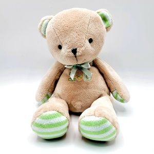 Carter's Just One Year brown green lovey soft bear